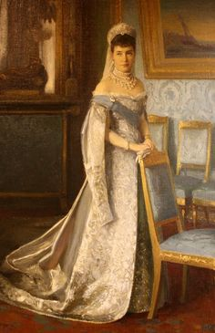 Tsarina Maria Fyodorovna, wife of Alexander III Emperor of All the Russians.  c 1895