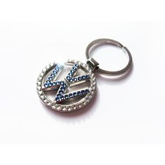Volkswagen Keychain with crystals sleutelhanger emblem VW logo... (€24) ❤ liked on Polyvore featuring accessories, ring key chain, logo key chains, keychain key ring, key chain rings and fob key chain