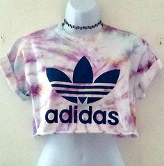 Tie Dye Adidas Crop Top