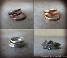 Stacking+copper+rings+Polished+copper+rings+by+veronikakocisova