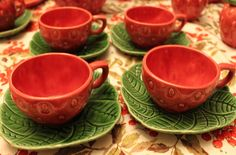 Strawberry cup and saucer set