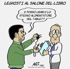 Mi sono accorto che da un po' trascuro gli amici leghisti... approfitto della presenza di #Salvini alla Fiera del Libro Aperto di Firenze