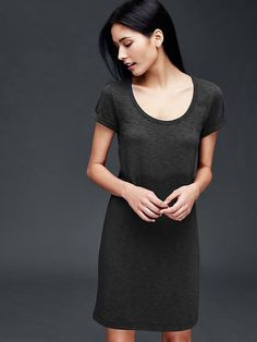 Roll sleeve t-shirt dress | Gap