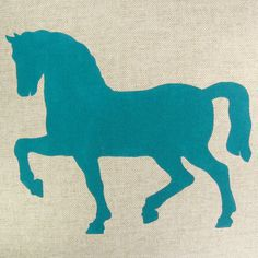 Decorative pillow case  Teal blue horse print by ClassicByNature, $32.00