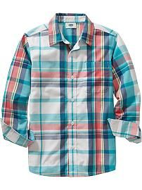Boys Madras Shirts