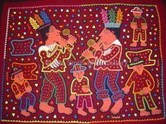 Kuna Ritual Mola Traditional Dance San Blas Panama #461