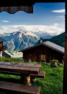 Mountain Huts in Switzerland- These provide a place to rest while hiking or biking trails in the mountains. Places Around The World, Oh The Places You'll Go, Places To Travel, Travel Destinations, Places To Visit, Around The Worlds, Dream Vacations, Vacation Spots, La Provence France