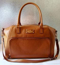 Kate Spade Baxter Street Large Catalina in saddle brown