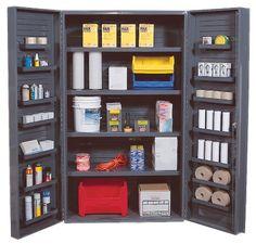 Storage Cabinet Heavy Duty Beige 3 Adjustable Shelves 14 Door Shelves 48 x 24 x 84 No Bins by Quantum. $2250.44. . Deep Door Model. 4 adjustable interior shelves and 14 adjustable door shelves. 800 lb. capacity per interior shelf. 60 lb. capcity per door shelf. Heavy Duty48W x 24D x 84H. Deep Door Model. 4 adjustable interior shelves and 14 adjustable door shelves. 800 lb. capacity per interior shelf. 60 lb. capcity per door shelf. Heavy Duty