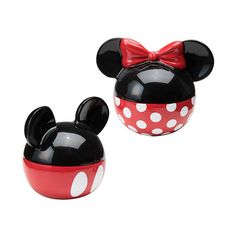 Mickey Mouse & Minnie Mouse Mickey & Minnie Salt & Pepper Shaker ($14) ❤ liked on Polyvore featuring home, kitchen & dining, serveware, salt and pepper shaker set, salt and pepper shakers, salt and pepper shaker, salt shakers and salt pepper shakers