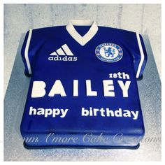 Chelsea soccer jersey cake