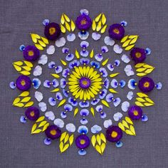 Beautiful and Colorful Flower Mandalas by Kathy Klein l #danmala