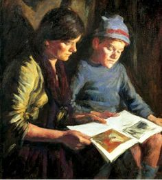 Forbes, Stanhope Alexander (1857-1947) The picture book, 1924