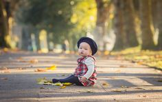 Autumn Baby photoshoot -  South Wales Family Photographer