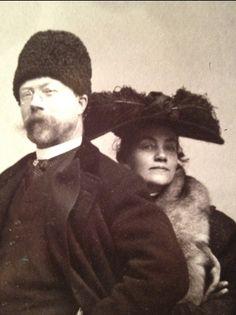 Karin and Carl Larsson, 1904 - a detail