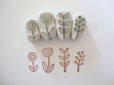 Garden Hand Carved Rubber Stamp Set! (: Love them perfect !