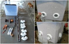 Make your own No-Waste Feeder - If you own chickens ducks fowl or geese even turkeys you know they are very wasteful creatures they Keeping Chickens, Raising Chickens, Backyard Chicken Coops, Chickens Backyard, Chicken Feeders, Chicken Treats, No Waste, Building A Chicken Coop, Mini Farm