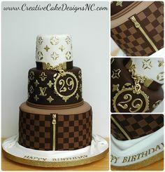 LV Birthday Cake by Christina's Dessertery, via Flickr