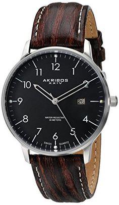 "Akribos XXIV Men's AK715SSB ""Retro"" Stainless Steel Watch with Brown Leather Band Akribos XXIV http://www.amazon.com/dp/B00IF3PA9A/ref=cm_sw_r_pi_dp_l--Zub0CXDZBE"