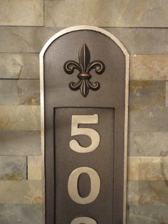Fleur De Lis House Numbers French Address Plaque Louisiana Rubbed Bronze Wedding, House Warming or Realtor's Closing Gift on Etsy, $55.00