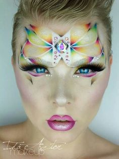 Fantasy makeup this makes me happy and people will see that too ;) but i think it would have to be more boulder so the audience can see the colours and shapes on the faces