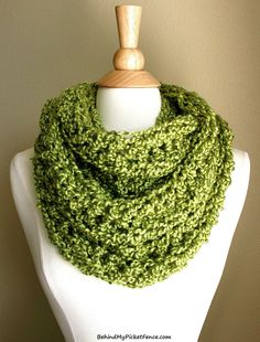 New BEACHCOMBER INFINITY SCARF - Apple Green by www.BehindMyPicketFence.com