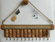 Wine Cork Jewelry Holder, Key holder, Jewelry Holder, Jewellery Storage…