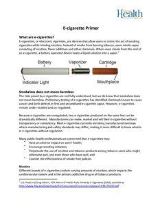 E-cigarette primer, by the Oregon Health Authority