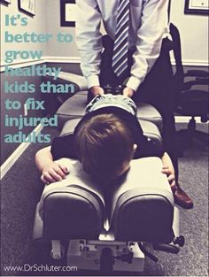 Healthy Kids make Healthy Adults.Chiropractor Care, the best preventing health care! Chiropractic Humor, Chiropractic Office, Family Chiropractic, Chiropractic Center, Health Advice, Health And Wellness, Wellness Quotes, Health Quotes, Health Care