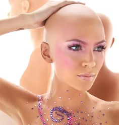 Breast cancer survivor. #beboldbebald Wow. If I can look half that good when chemo. Takes my hair.