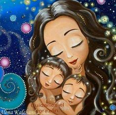 Loss of baby gift Mother and angel baby art print Grieving