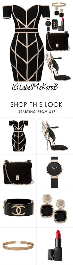 """""""Little Black Dress"""" by bsharccara on Polyvore featuring Command, Sophia Webster, Valentino, Chanel, Miss Selfridge and NARS Cosmetics"""