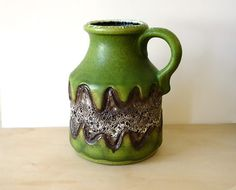Green Fat Lava Vase by Dumler & Breiden  // Ceramic by suninthebox