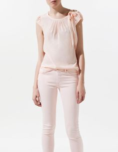 TOO WITH RIBBON - Shirts - Woman - New collection - ZARA United States