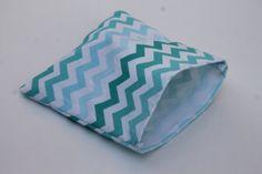 SALE Buy 4 Get 1 Turquoise Chevron Reusable Sandwich Bag
