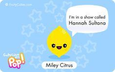 Cartoon citrus lemon joke in a kawaii style