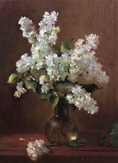 Lilac Painting, Oil Painting Flowers, Flower Vases, Flower Art, Cat Flowers, Floral Artwork, Pen And Watercolor, Still Life Art, Pastel Art