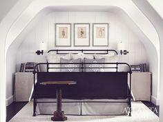 interior design, attic bedrooms