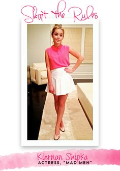 The lovely and adorable Kiernan Shipka is on the Skirt blog today telling us her secrets!