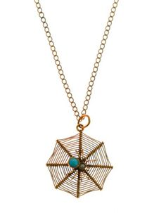 A gold turquoise and pearl spider pendant and chain. The chain is hallmarked as gold. Very lovely original piece with a spider on it's web. Antique Jewellery, Very Lovely, Spider, Gold Necklace, Buy And Sell, Turquoise, Pearls, Chain, Pendant