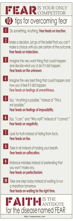 10 Tips for Overcoming Fear