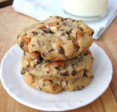 Pretzel-Butterscotch Chocolate Chip Cookies.  That combination sounds delish!