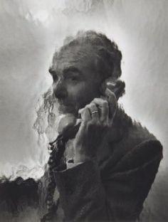 SOPHIE RISTELHUEBER (1949) -  Robert Doisneau au téléphone, ca. 1985.