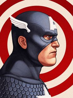 27 captain america1 The Marvel Character Portraits by Mike Mitchell