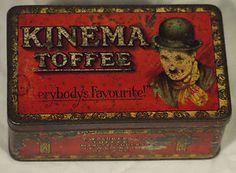 SUPER VINTAGE ANTIQUE ART DECO KINEMA TOFFEE TIN FEATURING CHARLIE CHAPLIN film | eBay