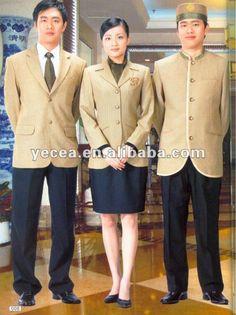 HOT tailored classic design hotel staff uniform