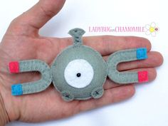 Felt magnet MAGNEMITE  POKEMON  fridge by LadybugOnChamomile, $11.99