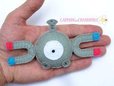 Felt magnet MAGNEMITE  POKEMON  fridge by LadybugOnChamomile, $11.99