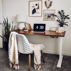 Home Office Design, Home Office Decor, Office Set, Office Ideas, Cozy Office, Office Inspo, Office Table, Desk Ideas, Small Space Office