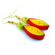 Red Kanner Buy now online at low price http://www.ramanamam.com/ohooshopping/fashion-earrings-?product_id=69